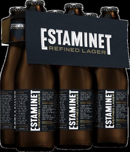 Afbeeldingen van ESTAMINET REFINED LAGER 6X25CL